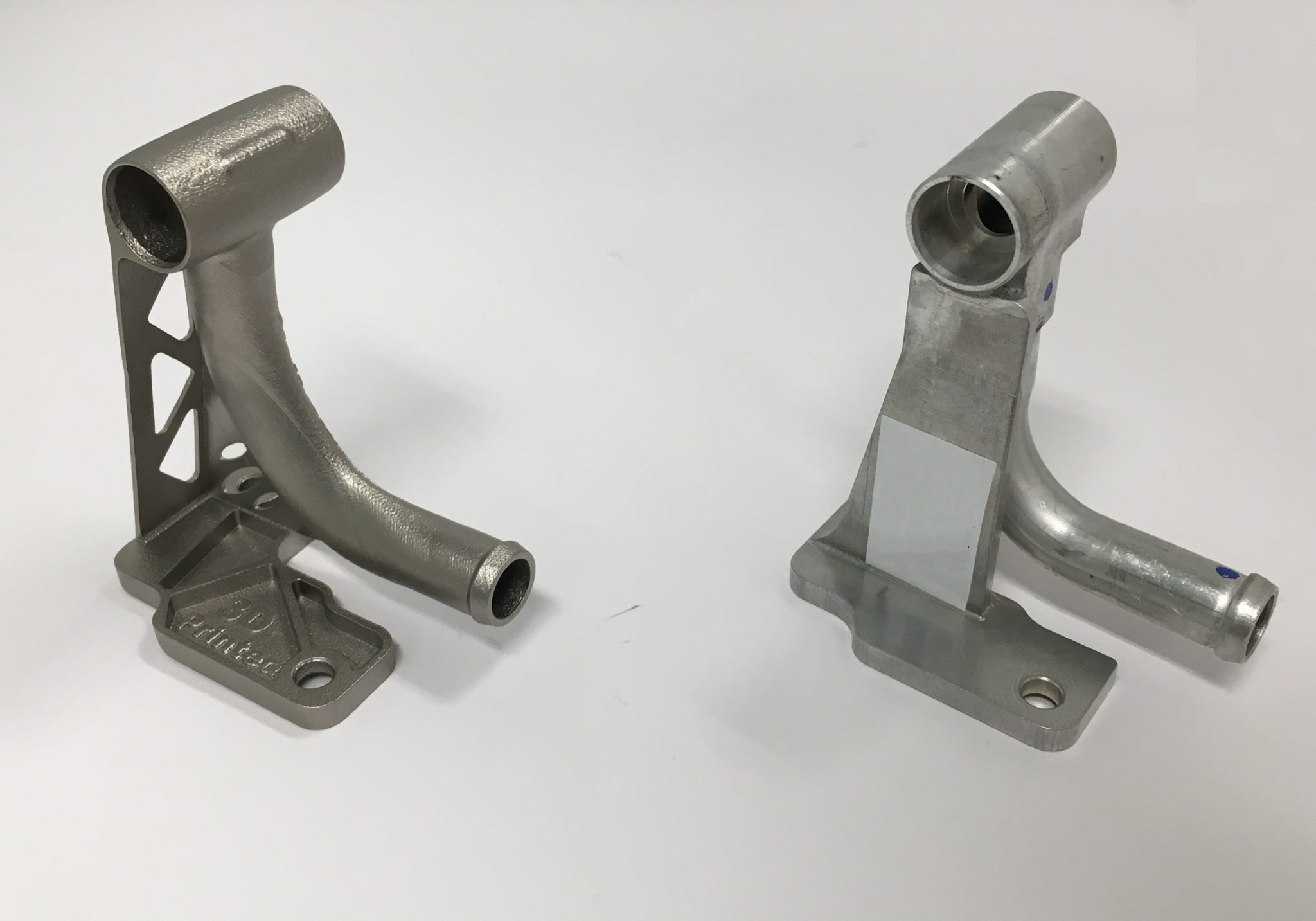 Redesign of an automotive bracket and printed in stainless steel