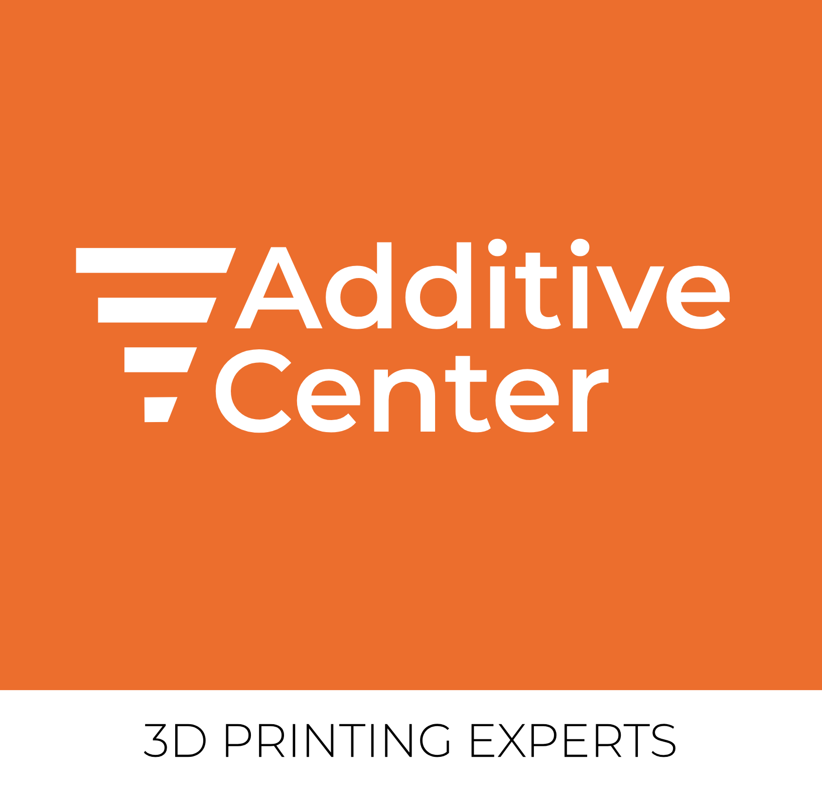 Additive Center logo - Orange - With text